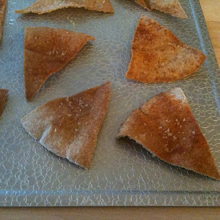 Baked Pita Chips MIY (make-it-yourself).