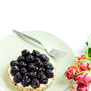 "Raspberry Rose ""Hidden"" Chocolate Tart"