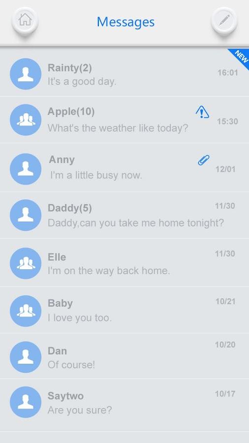 GO SMS PRO WHITESOUL THEME - screenshot