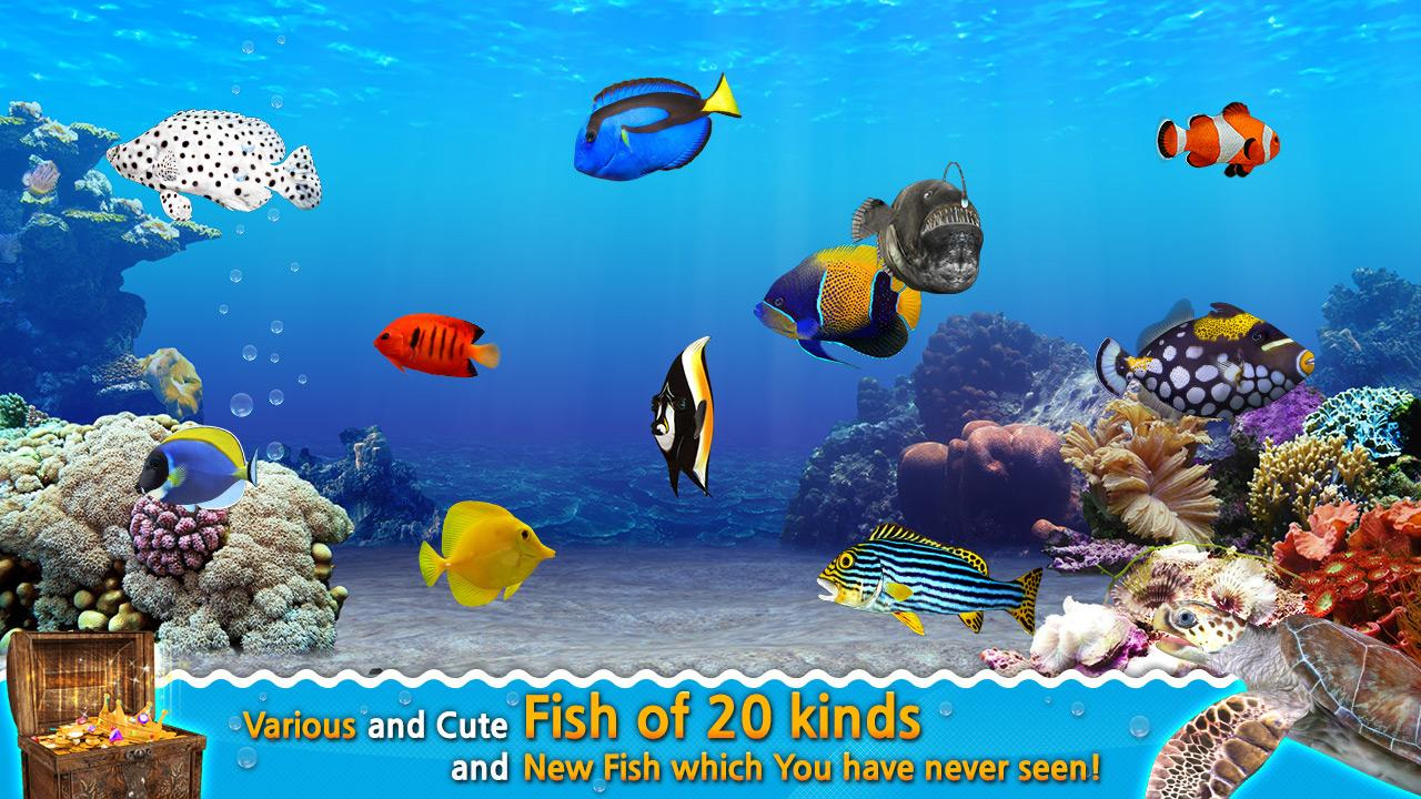 Fish aquarium game 3d ocean android apps on google play for Fish tank game