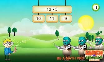 Screenshot of Math vs. Undead: Math Workout