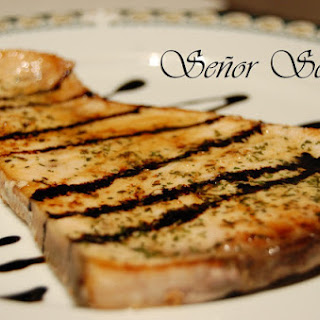 Emperor Fish with a Balsamic Vinegar Reduction.