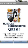 Screenshot of Musical Instruments Quiz!