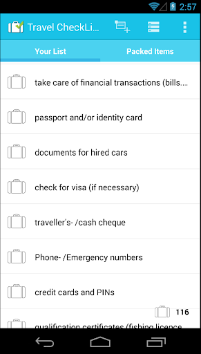 Travel CheckList PRO