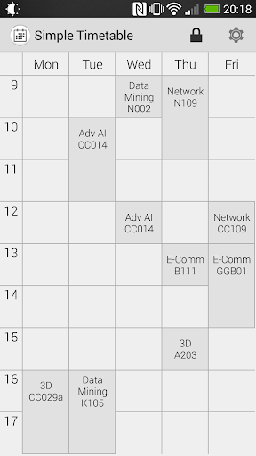 Simple Timetable