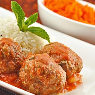 Moroccan Style Lamb Meatballs in Tomato Sauce.