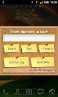 Screenshot of Number Saver