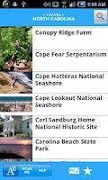 Screenshot of Travel North Carolina