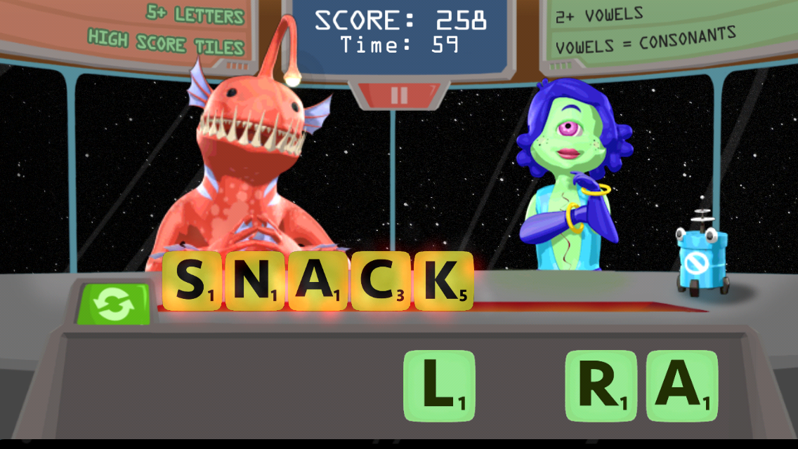Word Snack HD- screenshot
