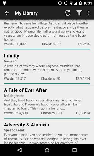 【免費書籍App】Fanfiction Reader-APP點子