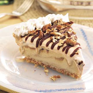 Dulce de Leche Ice Cream Pie with Mocha Fudge Sauce