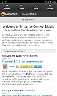 Symantec Connect- screenshot thumbnail