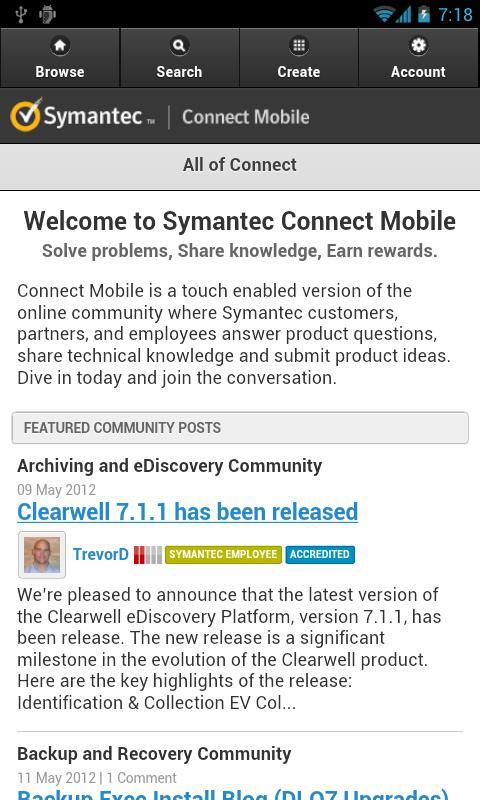 Symantec Connect- screenshot
