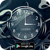 Black clock live wallpaper HD