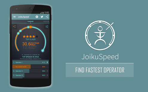 JoikuSpeed Operator Speeds - screenshot thumbnail