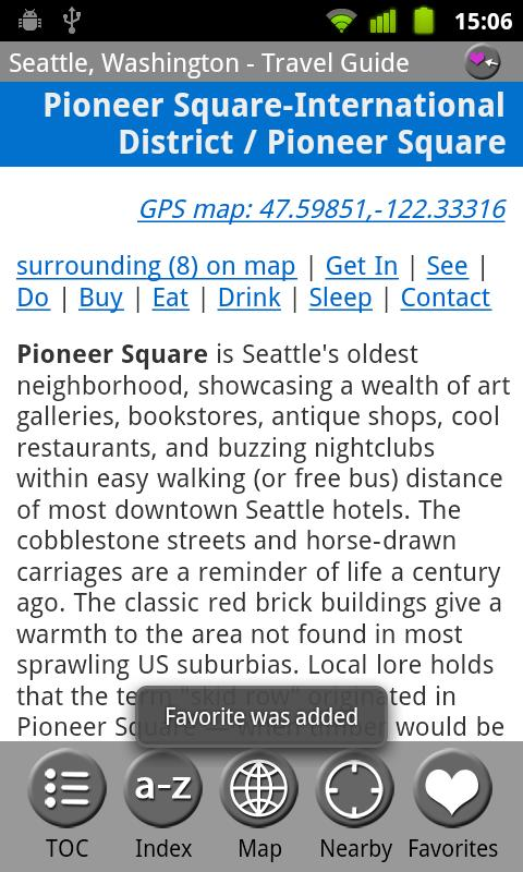 Seattle - FREE Guide & Map - screenshot