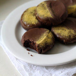 Flourless Chocolate Peanut Butter Cookies.
