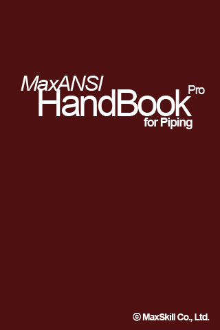 MaxANSI Piping HandBook Pro - screenshot