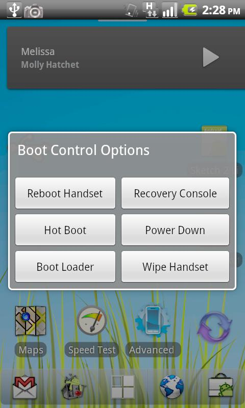 Reboot Control Widget - screenshot