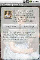 Screenshot of Jane Austen Quotes with Widget