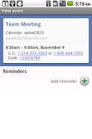 Screenshot of Dial My Meeting