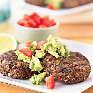 Southwestern Black Bean Cakes with Guacamole.