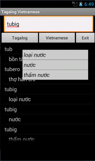 Vietnamese Tagalog Dictionary