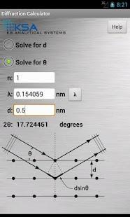 Diffraction Calculator - screenshot thumbnail
