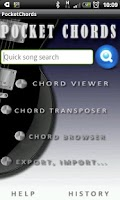 Screenshot of Pocket guitar chords & tabs