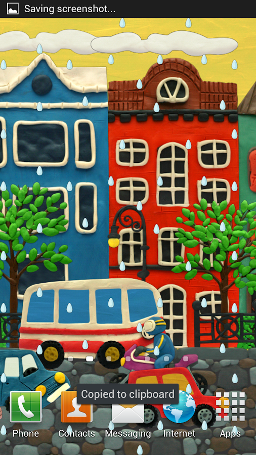 Plasticine town Live wallpaper - screenshot