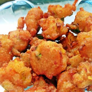 Mixed Vegetable Kunuku- Deep Fried Lentil Crispes.
