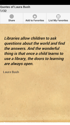 Quotes of Laura Bush