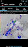 Screenshot of Swiss Weather Radar