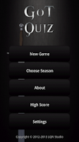Screenshot of GoT Quiz