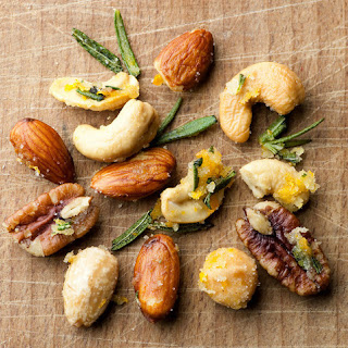 Buttered Rosemary Orange Nuts.