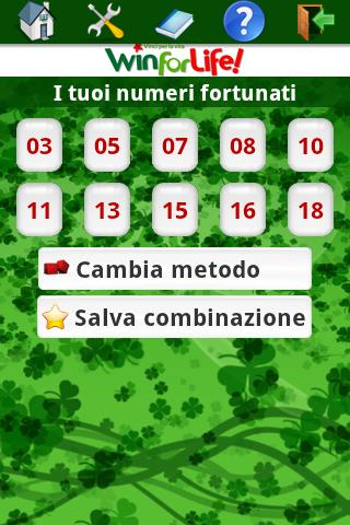 Numeri fortunati Superenalotto - screenshot