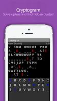 Screenshot of Cryptogram for Purplenamu