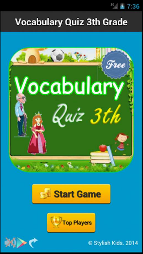 Vocabulary Quiz 3th Grade