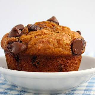 Pumpkin- Chocolate Chip Muffins.