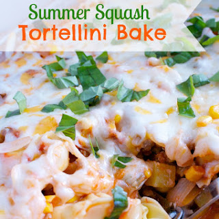 Summer Squash and Tortellini Bake