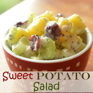 Scrumptious and Sweet Potato Salad.
