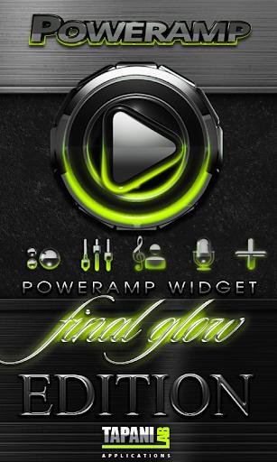 Poweramp skin widget Lime Glow