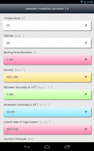 Seawater Properties Calculator