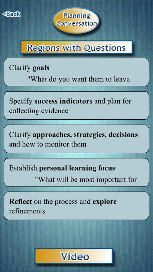 Cognitive Coaching- screenshot