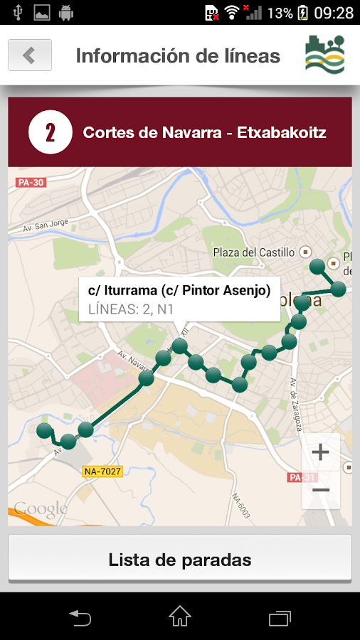 Tu Villavesa - Bus Pamplona- screenshot