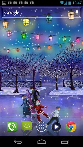 玩個人化App|聖誕溜冰場動態壁紙免費|APP試玩