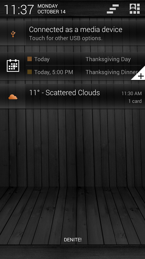 Black Wood Orange CM11 Theme - screenshot