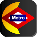 Nighttime Metro Madrid icon
