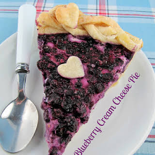 Blueberry Cream Cheese Pie.