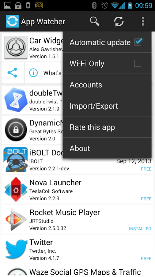 App Watcher - screenshot